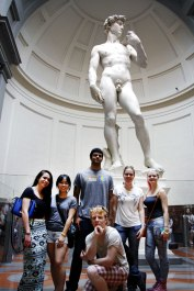 SACI Summer 2014 Sculpture class visiting David