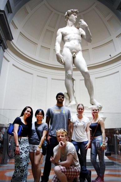 SACI Summer 2014 Sculpture class visiting David