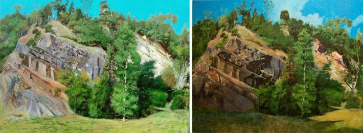 "Gary Lissa, ""Big Quarry"" (L) and ""Big Quarry REDUX"" (R)"
