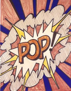 Roy Lichtenstein, Study for Pop! 1966, Felt-tip marker and cut-and-pasted printed paper on newsprint - 28 1/2 x 22 inches - 72.4 x 55.9 cm - Collection of Marsha and Jeffrey Perelman - © Estate of Roy Lichtenstein / SIAE 2014