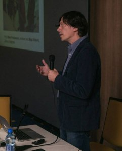 Dejan Atanackovic presenting at the Balkan Museums Without Barriers conference in Sarajevo