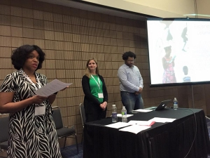 """Laci Coppins speaking at the National Art Education Association 2015 Convention on """"Clarity of Purpose: Sharing and Adapting Exhibition Based Strategies Across Institutions"""""""