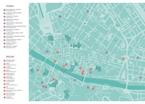 Map of Florence open studios event