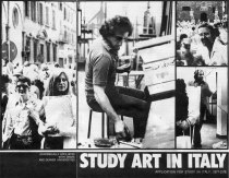 SACI Study Art in Italy Poster (1977-78)
