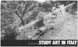 SACI Study Art in Italy Poster (1977 term)