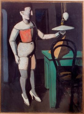 """Mario Sironi, """"La Lampada"""" 1919, oil on canvas, 78 x 56 cm, Pinacoteca di Brera, Milan"""