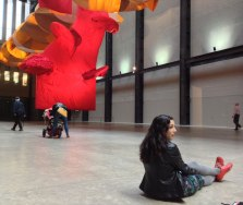 Molly with Richard Tuttle installation at the Tate Modern