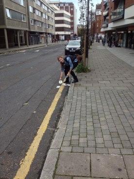 Danielle collecting London street art