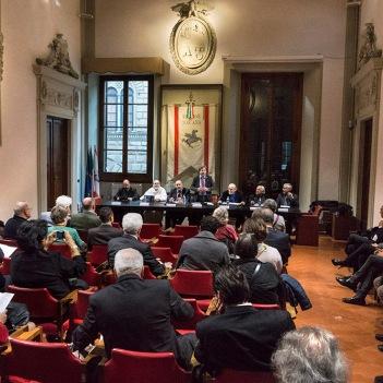 "Presentation of Angelo Pontecorboli exhibition ""liber"" at the Regione Toscana, Florence"