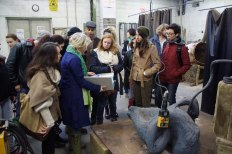 SACI Sculpture fieldtrip Fall 2014 with Sculptor, Kirsten Ortwed
