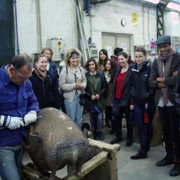 SACI Sculpture fieldtrip Fall 2014 to Mariani Foundry
