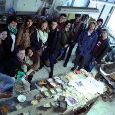 SACI Sculpture fieldtrip Fall 2014 to the Mosaic Cooperative Studio