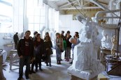 SACI Sculpture fieldtrip Fall 2014 to Stagetti Marble Studio