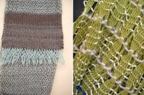 Examples of work by SACI Weaving student