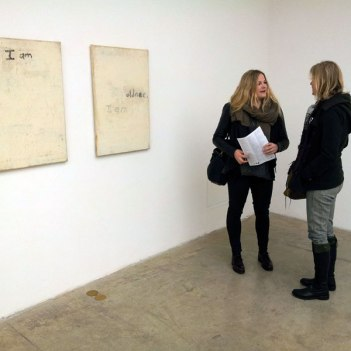 """SACI graduate students at Lawrence Carroll exhibition, """"Ghost House"""""""