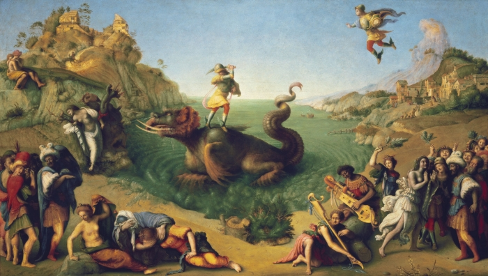 Piero di Cosimo, Liberation of Andromeda, c. 1510–1513, oil on panel, Galleria degli Uffizi, Florence