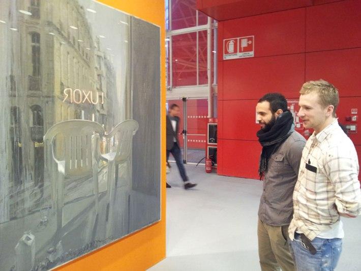 SACI MFA students visiting Artefiera Bologna 2014