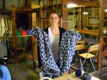 SACI Weaving student