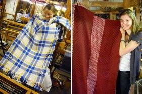 SACI Weaving students