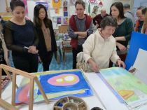 "SACI students in the Body Archives class visit ""Fili e Colori"""