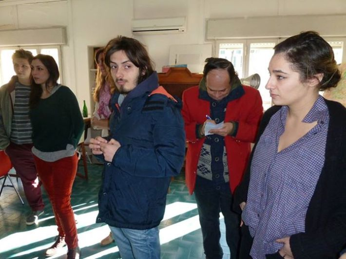 "SACI students in the Body Archives class and Instructor Dejan visit ""Fili e Colori"""