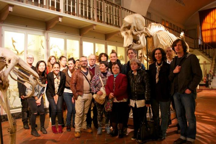 SACI's Body Archives 2 class and staff from the Museum of Natural History, Florence