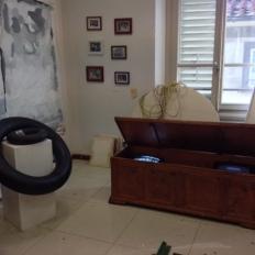 SACI MFA studio of Christina Gednalske