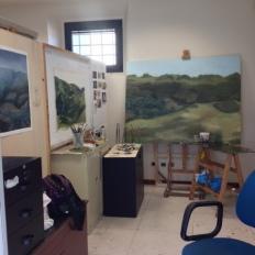 SACI MFA studio of Radha Tague