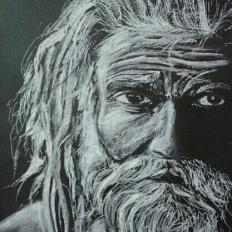 yogesh sehgal 12x17 sadhu of pushkar