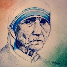 yogesh sehgal painting of mother tersa