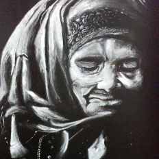 yogesh sehgal painting of old lady_20140907185348832