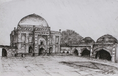yogesh sehgal painting tomb lodhi garden a3