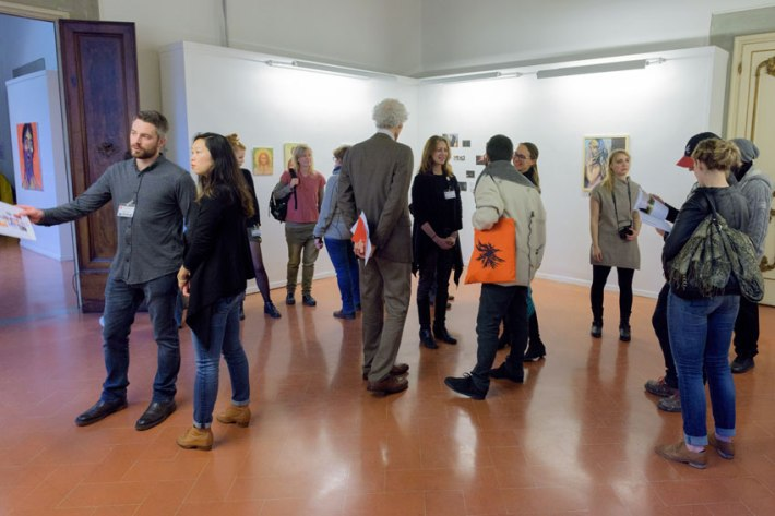 "SACI's 1st-year MFA student exhibition, ""An Immersion into Culture: due anni di soggiorno in Toscana"" at Regione Toscana"