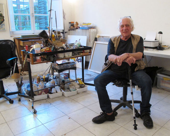 Jules Maidoff in his studio, 2015