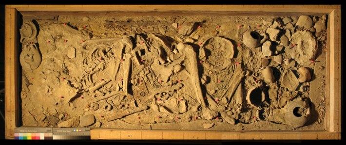 Picenian tomb project Novilara before SACI conservation process