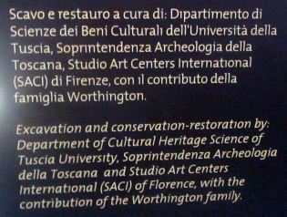 Restoration by SACI team of conservators and students