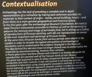 Contextualization of display at the Museo Archeologico Nazionale di Firenze (MAF)