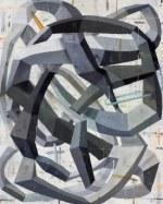 "Deborah Zlotsky, ""The encyclopedia of obviously,"" oil on canvas  60"" x 48""  2015"