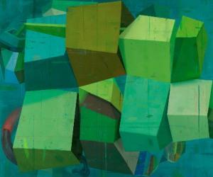 """Deborah Zlotsky, """"Mermaid thoughts,"""" oil on canvas, 60"""" x 72""""  2015"""