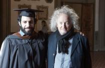 Horazio Lizardo Jr. and Guest Speaker, Artist Lawrence Carroll(Photo: Lorenzo Guasti)