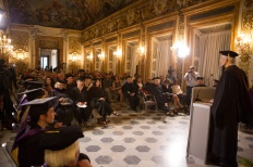 SACI MFA in Studio Art Commencemnt 2015 in the Sala Luca Giordano, Palazzo Medici Riccardi, Florence