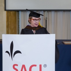 Elizabeth A. Sackler, Phd, Chair of the Board of the Brooklyn Museum is awarded Honorary Degree
