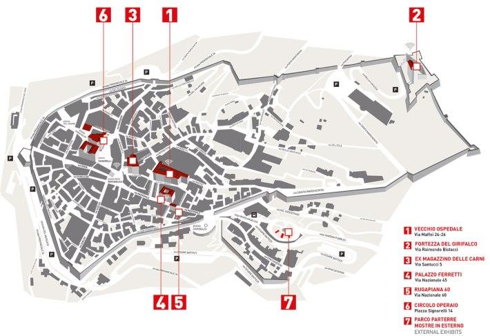 Cortona on the Move 2015 map