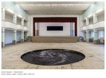 "Anish Kapoor - ""Descension"" 2015, Steel, water, motor, 500 x 500 cm, Galleria Continua, San Gimignano"