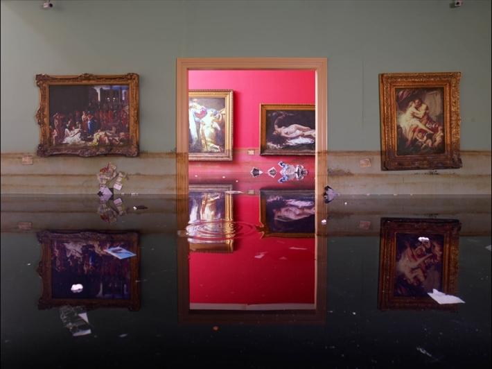 """David LaChapelle, """"After the Deluge - Museum,"""" 2007, Chromogenic Print © David LaChapelle"""