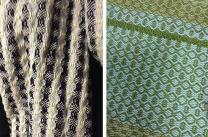 Examples of work by SACI Weaving students Madeleine Arnault and Kristina Buckly