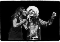 Tina Turner and Janis Joplin at the Madison Square Garden in New York, opening for Rolling Stones concert, November 27, 1969, copyright, Amalie R. Rotschild,