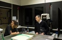 SACI MFA in Photography student and instructor, Romeo Di Loreto in the darkroom