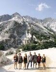 SACI scultpure class and instructor John Taylor on a field trip to Carrara and Pietrasanta, Summer 2015