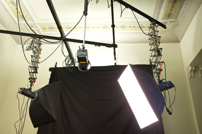 SACI's lighting studio for photography students